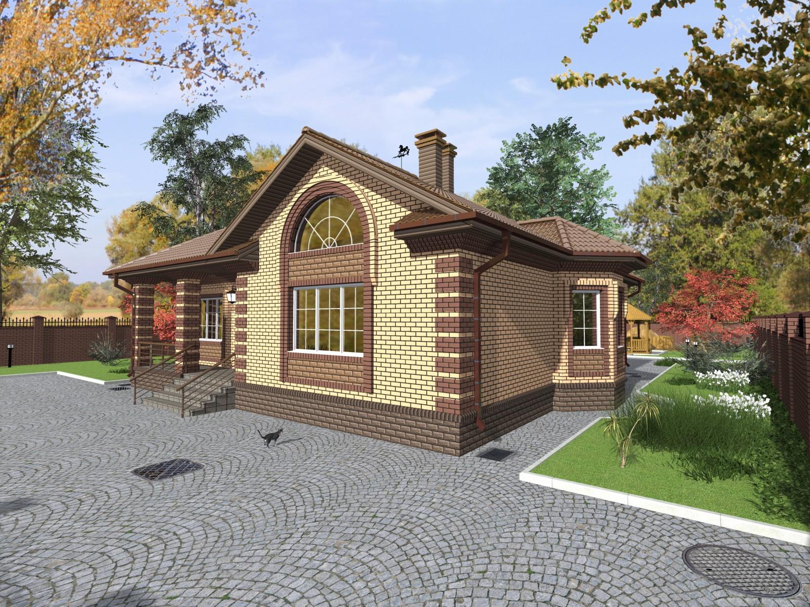 проекты одноэтажных домов из керамзитоблоков